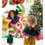 BALON świąteczny foliowy Cukierek 35cm
