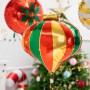 BALON świąteczny foliowy Kolorowa Bombka 51x49cm