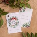 ZAWIESZKI do prezentów świątecznych Wieniec Świąteczny 10szt