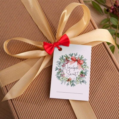 OZDOBA na wieko skrzyni/pudełka Bilecik świąteczny