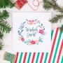 KARTKA świąteczna personalizowana Merry Christmas (+koperta z wnętrzem+naklejka)