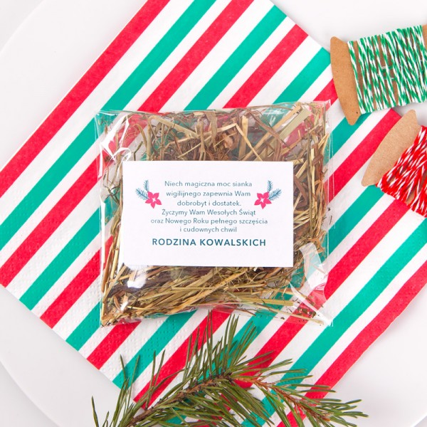 SIANKO wigilijne personalizowane Merry Christmas