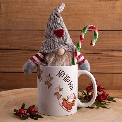 PREZENT świąteczny Kubek i skrzat Z IMIENIEM Sanie Mikołaja