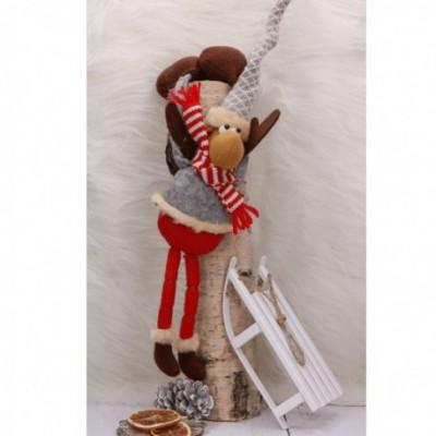 RENIFER dekoracja świąteczna na półkę z obciążnikami 40cm