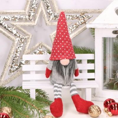 KRASNAL skrzat świąteczny w czerwonej czapce Dekoracja 28cm
