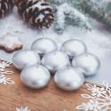 ŚWIECE świąteczne pływające metalizowane DUŻE 10szt SREBRNE