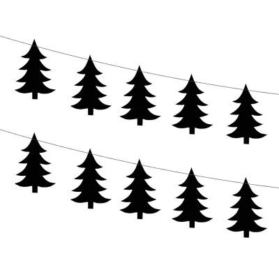 GIRLANDA świąteczna Choinki 180cm 2szt