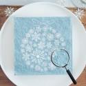 SERWETKI świąteczne tłoczone Bombka ze śnieżynek 33x33cm 20szt