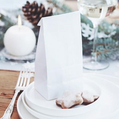 TOREBKI świąteczne na słodkie prezenciki 6szt BIAŁE