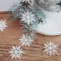 KONFETTI świąteczne Białe Śnieżynki 20szt