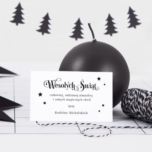 BILECIK personalizowany z życzeniami Christmas Time