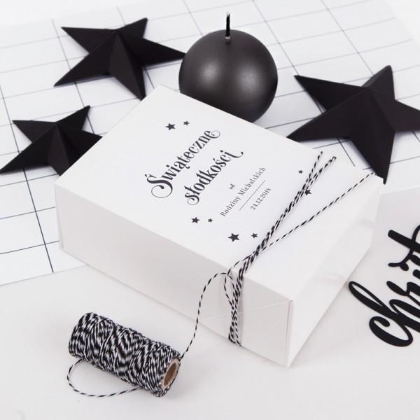 PUDEŁKA na ciasto świąteczne personalizowane Christmas Time 12szt