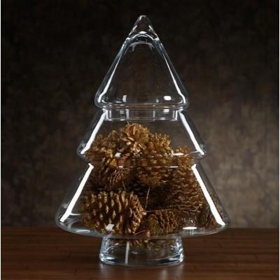 CHOINKA szklana na słodkości 27cm