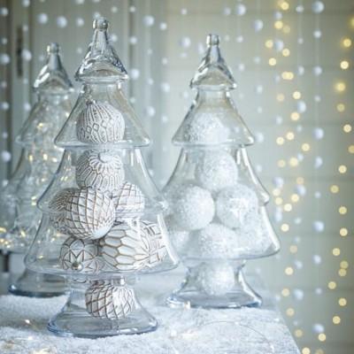 CHOINKA świąteczna szklana 40cm Duża