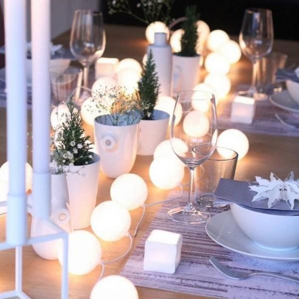 LAMPKI dekoracyjne Cotton Ball Lights 10 KUL BIAŁE