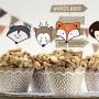 FOREMKI papilotki papierowe na muffinki Eco Liski + TOPPERY zestaw 12szt