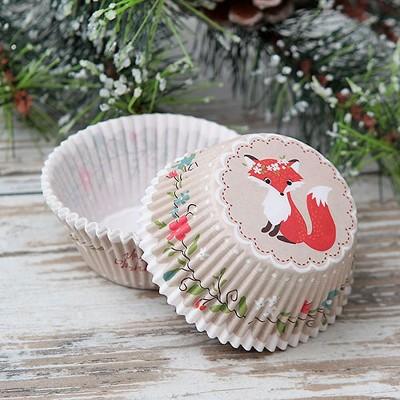 FOREMKI na muffinki Świąteczne Liski 50szt