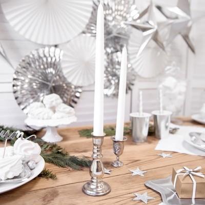 ŚWIECE świąteczne proste białe matowe długie 29cm 10szt
