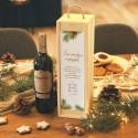 SKRZYNIA na alkohol drewniana na prezent firmowy Woodland Z LOGO