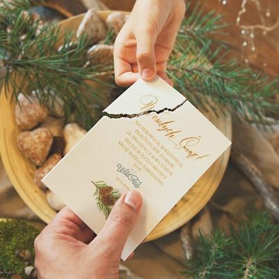 OPŁATEK z życzeniami świątecznymi Woodland Z LOGO