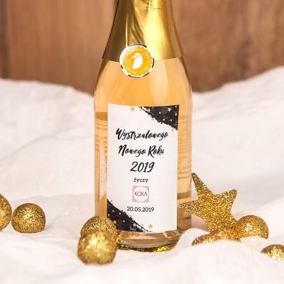 SZAMPAN/WINO MUSUJĄCE z naklejką 200ml New Year Z LOGO