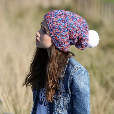 CZAPKA zimowa Feel the wind in your hair RĘCZNIE ROBIONA W POLSCE