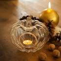 DYNIA szklana świecznik na tealight 15cm MAŁA