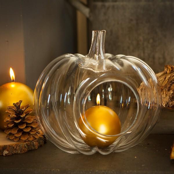 DYNIA szklana świecznik na tealight DUŻA