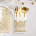 KIESZONKI na sztućce świąteczne Złota Koronka 25szt