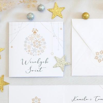 KARTKA świąteczna personalizowana Moja Gwiazdka (+koperta z wnętrzem+naklejka)
