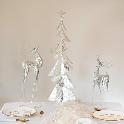 CHOINKA metalowa dekoracja świąteczna OGROMNA 80cm