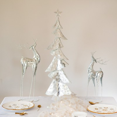 RENIFER metalowy dekoracja świąteczna 42cm