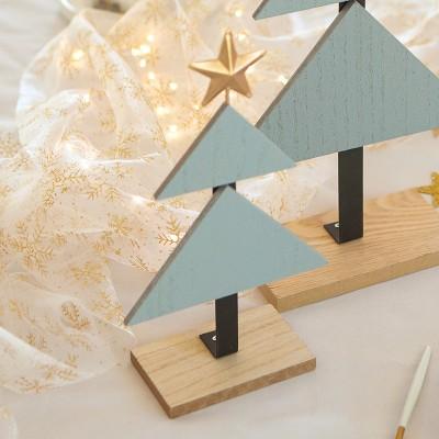 CHOINKA drewniana Modern dekoracja świąteczna MAŁA 25cm