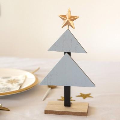 CHOINKA drewniana Modern dekoracja świąteczna DUŻA 35cm