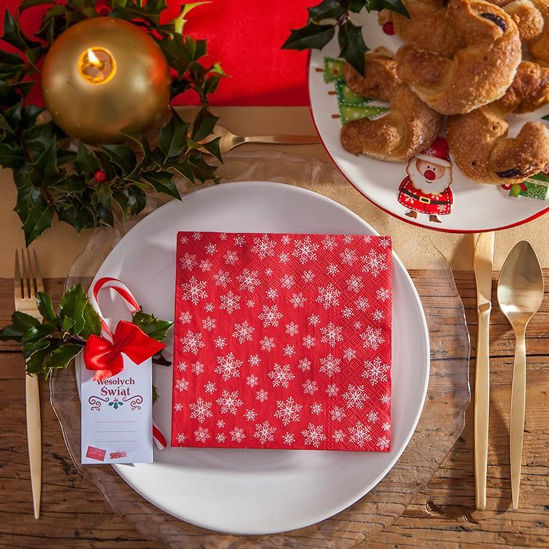 Dekoracje na stół i salę na Boże Narodzenie