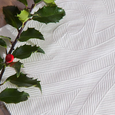 SERWETKI tłoczone Lily Białe Elegance 40szt