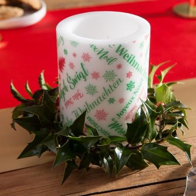 ŚWIECA/LAMPION Wesołych Świąt 10x12cm