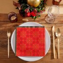 SERWETKI świąteczne flizelinowe Boże Narodzenie 40x40cm 50szt