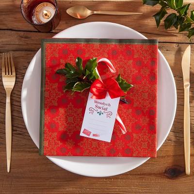 SERWETKI flizelinowe Boże Narodzenie 40x40cm 50szt