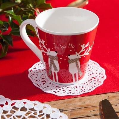 SERWETKI dekoracyjne pod szklanki Biała Koronka 11cm 50szt