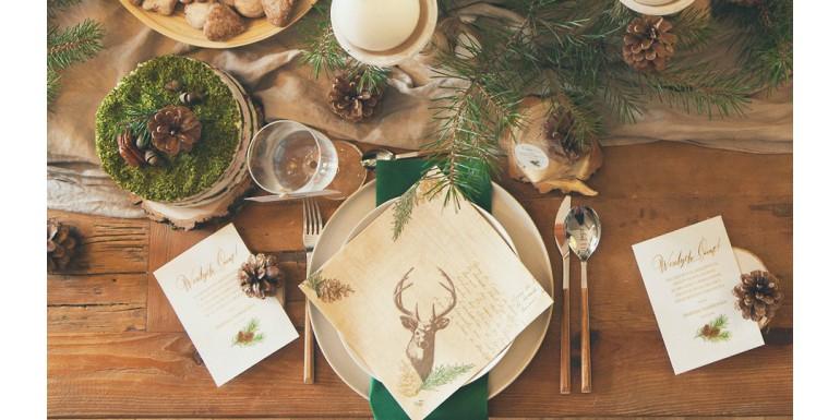Dekoracja Stołu Na Boże Narodzenie W Naturalnym Stylu