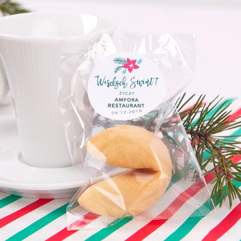 Ciasteczka z wróżbą Merry Christmas