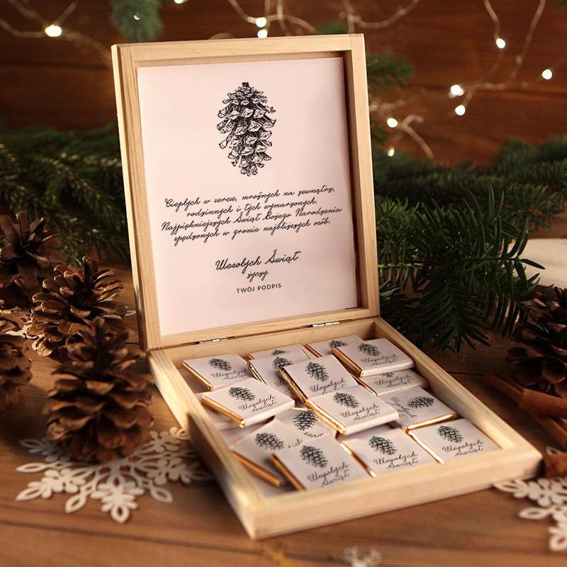 Pudełko z czekoladkami na Święta
