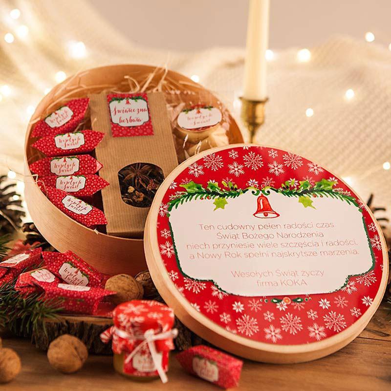 Pudełko z łuby drzewnej Czerwone Święta