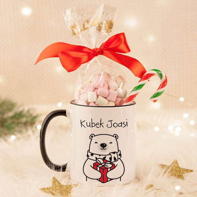Kubek świąteczny z misiem i piankami