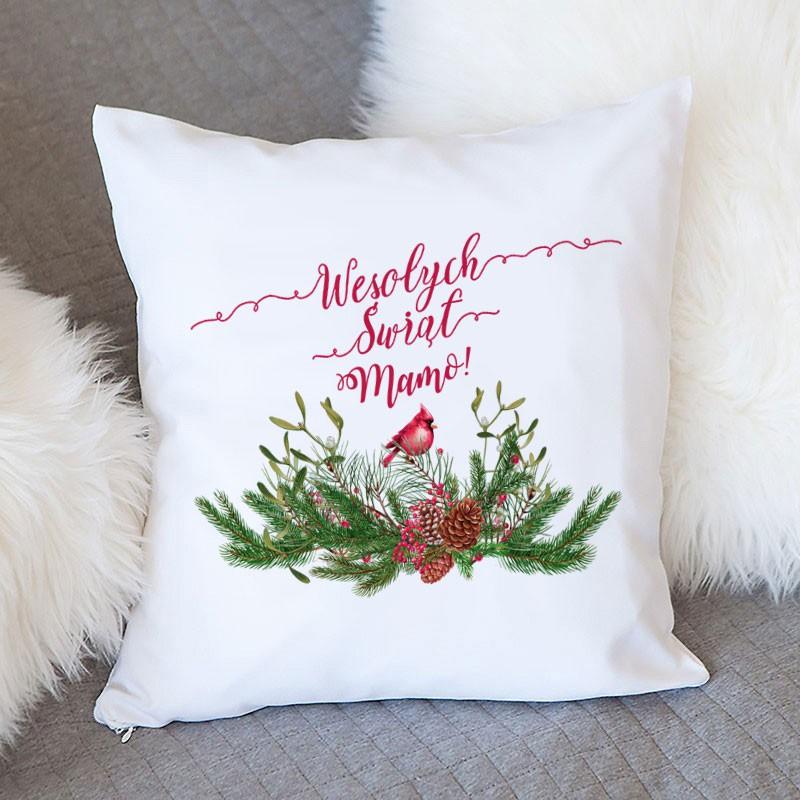 Ozdobna poduszka z zimowym motywem