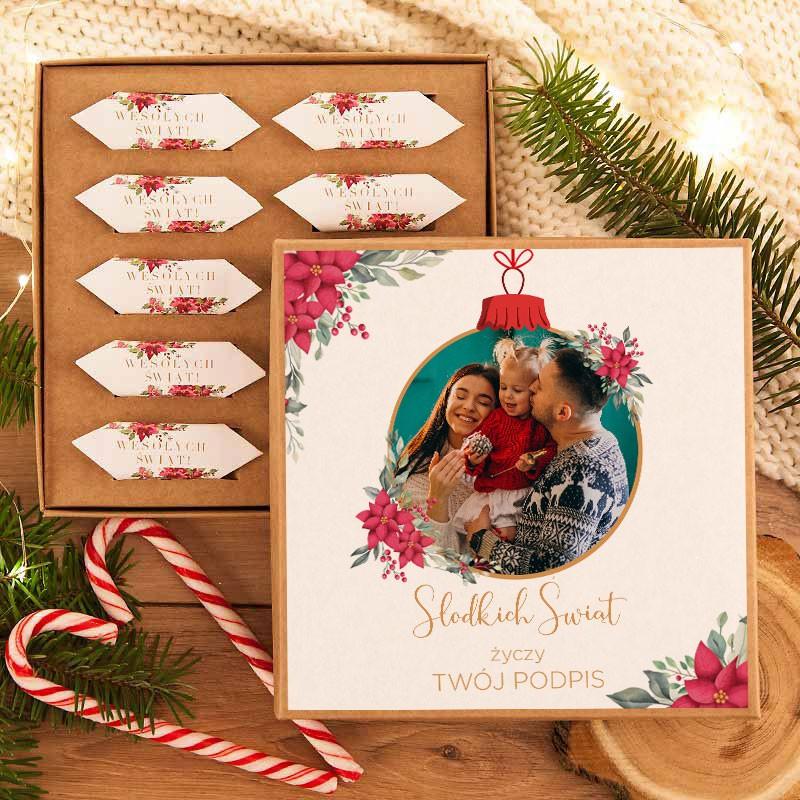 Bombonierka z krówkami na Święta ze zdjęciem